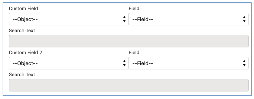 Salesforce Project Management Software - Action Pad Custom Field Filters